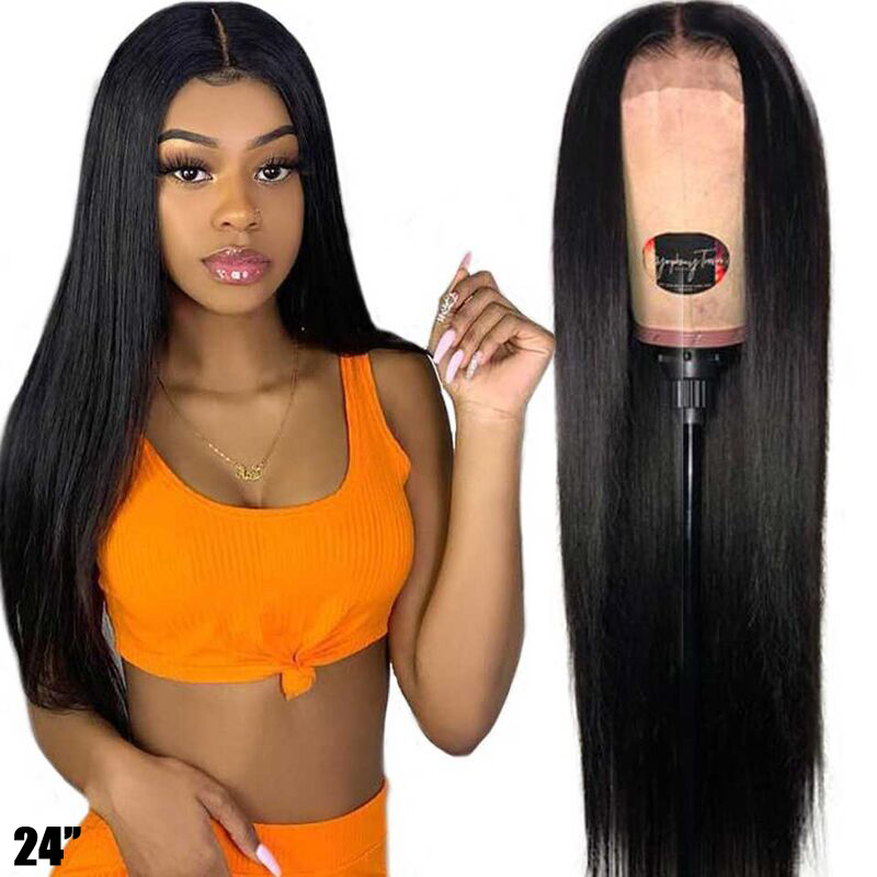 5x5 4X4 Lace Closure Wig Hd Transparent Lace Frontal Wig Invisible Straight Lace Front Human Hair Wigs Remy Brazilian Wig 150%