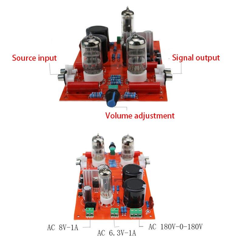 KYYSLB AC8V AC180-230V 6N3 6H3N GE5670 Tube de préamplificateur Bile redresseur HIFI amplificateur Bile préamplificateur bricolage avec transformateur