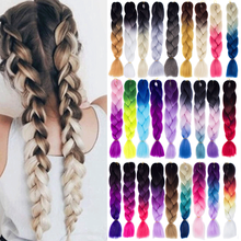 4pcs 24 Inch Synthetic Braiding Hair Ombre Color Synthetic Hair Extension Jumbo Braiding Hair