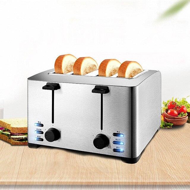 Automatic Toaster Household Toast Machine 4 Slices Breakfast Machine Toaster Stove Equipment THT-3012B 1