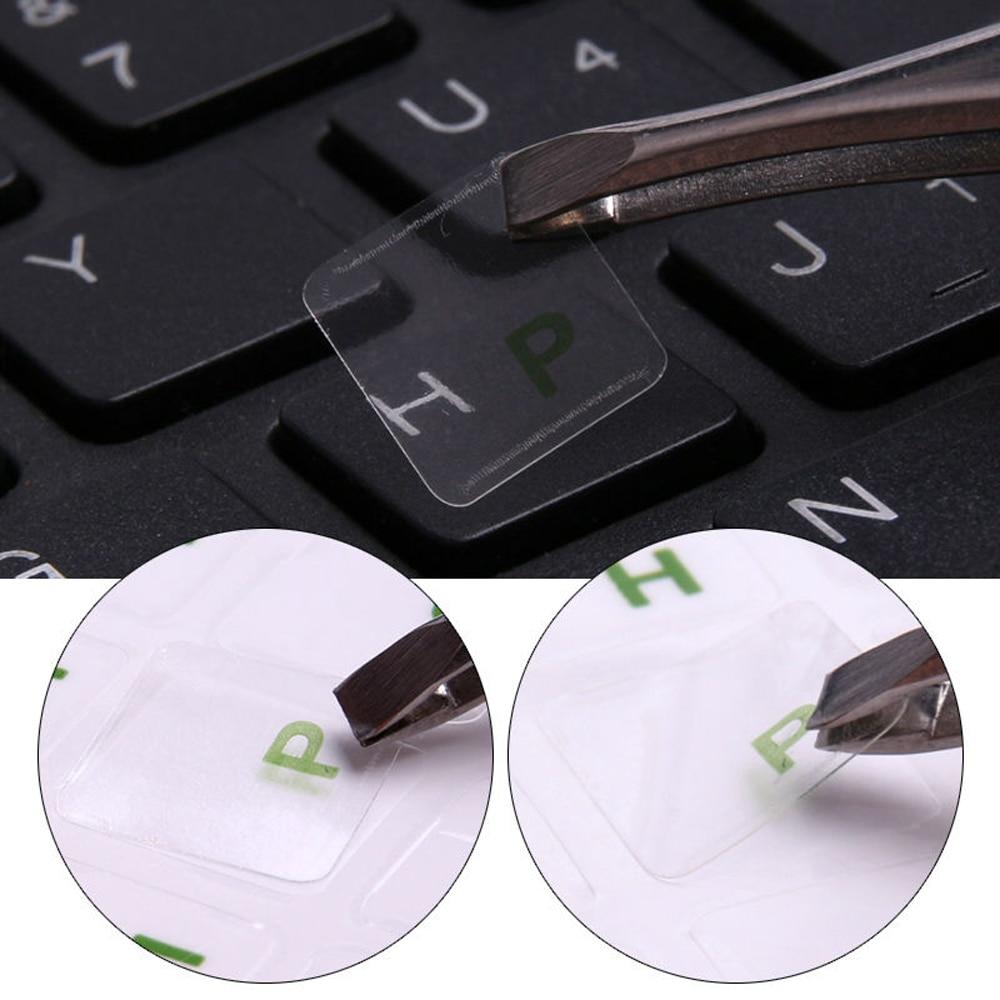 1x Transparent Keyboard Sticker Russian Language Keyboard Letter Protector Sticker Film Multicolor Waterproof Laptop Accessories-1