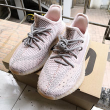 HKSZ Pink star yeezys air 350 boost v2 unisex sneakers Reflections running shoes for women mesh breathable yeezys 350 shoe(China)