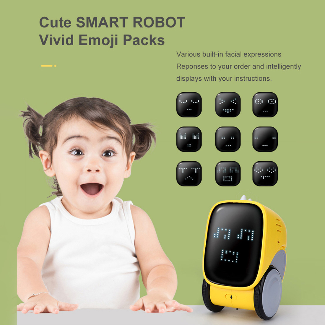 iTECHOR Smart Interactive Robot Gesture Voice Controlled Touch Sensor Voice Recording Robot Toy Gift Voice Recognition Robot 1