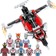 Sembo Ultraman Zoffy Ultra Seven Jack Ace Taro  Leo Jonias Eighty Rob Head Dart Guts Wing EXJ Building Block Toys for Children 38cm ultraman orb sacred sword and spear dart which emits light and sounds is a children s like ultraman toy