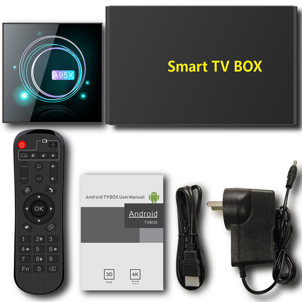 A95X F3 SLIM TV Box Amlogic S905X3 4K 8K 2/4GB RAM 32/64GB ROM 5G WIFI bluetooth 4,0 Android 9.0 VP9 H.265 Support Voice Control
