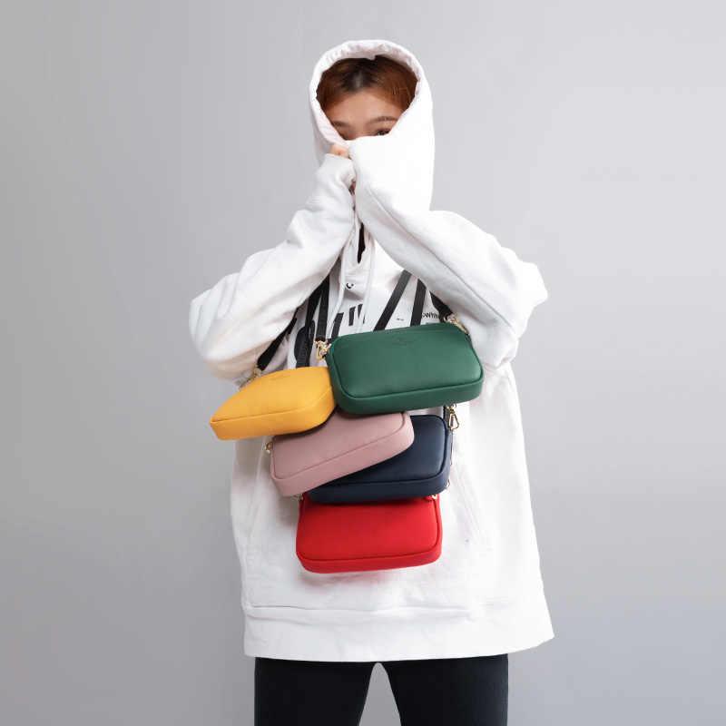 Weichen Fashion Kecil Dada Bahu Tas Selempang Wanita Lembut Kulit Wanita Messenger Tas Multifungsi Bolsa Sac Wanita Bolso