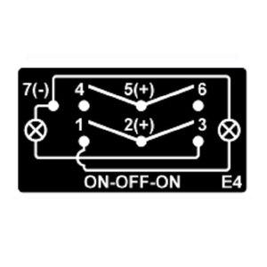 Image 5 - Interruptor de encendido y apagado momentáneo, Led azul, 7P, interruptor basculante DPDT, cabrestante, impermeable, coche, barco, 12v/24v + juego de cables de puente
