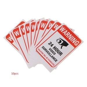 Image 1 - משלוח חינם 10 יח\חבילה PVC טלוויזיה במעגל סגור מעקב וידאו אבטחה מדבקת סימני אזהרה