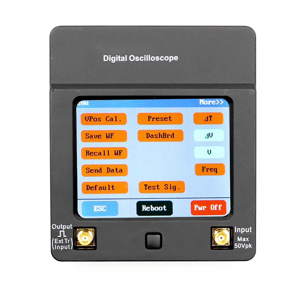 DSO112A Small Digital Oscilloscope Portable Multimeter Tester 2MHz 5Msps TFT Color Display Touch Screen with Battery