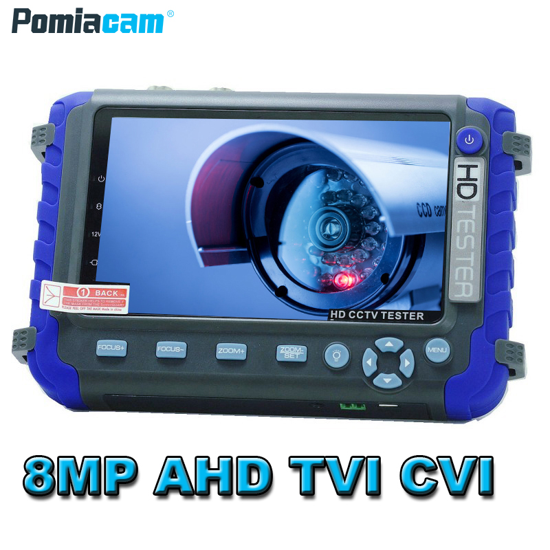 IV8C Upgraded 8MP 5MP AHD TVI CVI CVBS Analog Security Camera Tester Monitor IV8C  HD CCTV Tester