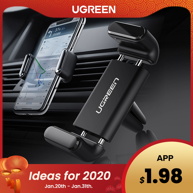 Ugreen Car Phone Holder For Your Mobile Phone Holder Stand For IPhone 11 8 Air Vent Mount Cell Phone Support In Car Phone Stand