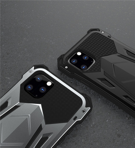 Image 2 - R JUST For IPhone 11 11Pro Max Luxury Doom Armor Duty Shockproof Metal Aluminum Phone Cases For IPhone 11 Pro max XS XR 7 8 plus