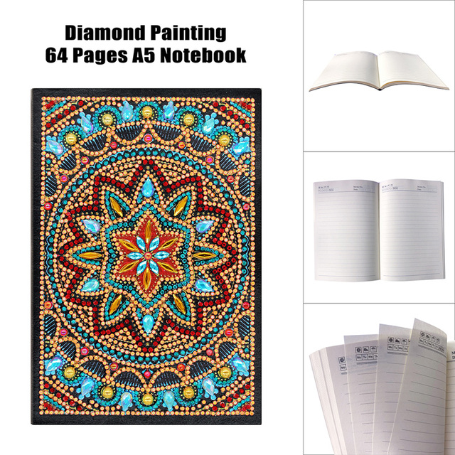 Diary Book DIY Creative Special Shaped Diamond Painting Notebook 108 Page A5 Notebook Embroidery Diamond Cross