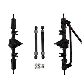 RC Car Front Rear Axle With Transmission Shaft Combiner for 1:10 RC Crawler Axial SCX10 II 90046 90047 Upgrade Parts