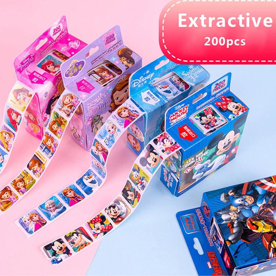 200pcs Disney Frozen 2 Elsa Anna Removable Sticker Princess Scrapbooking For Kids Decor Diary Notebook Decoration Toy Stickers