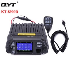QYT KT-8900D 25W Car Mobile Radio Walkie Talkie VHF UHF Dual Band Quad Standby Color Screen KT 8900D Vehicle Ham Radio Station