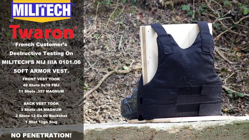 Test Video--Militech NIJ IIIA Ballistic Vest French Customer's Destructive Test Video