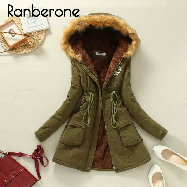 Winter Jacket Women Long Parka Thick Warm Hooded Long Coats Mujer Cotton Padded Coat Womens Outwear Parkas Plus Size Fur Coat