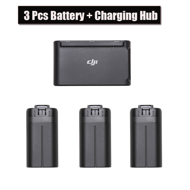 3pcs Original DJI Mavic Mini Drone Battery 30 Minutes Flight Time +Two-Way Battery Charging Hub For DJI Mavic Drone Accessories