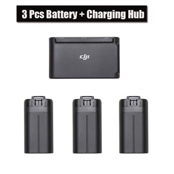 3pcs Original DJI Mavic Mini Drone Battery 30 minutes flight time +Two-Way Battery Charging Hub for DJI Mavic Drone Accessories flight volume two