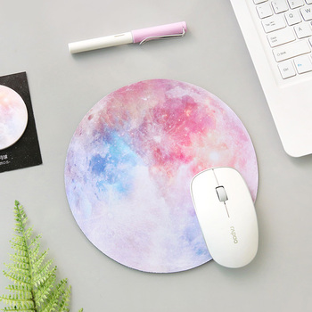 цена Planet Series Round Mouse Pad Mat Planet Mouse Pad Soft Rubber Pad Computer Game Mouse Pad Office Supplies Stationery Accessory онлайн в 2017 году