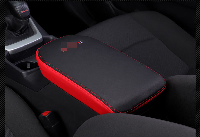 Image 4 - Super fiber Carbon Or Black Leather Car Central Armrest Cover For Toyota RAV4 RAV 4 XA50 2019 2020 Car accessoriesCar Anti-dirty Pad   -
