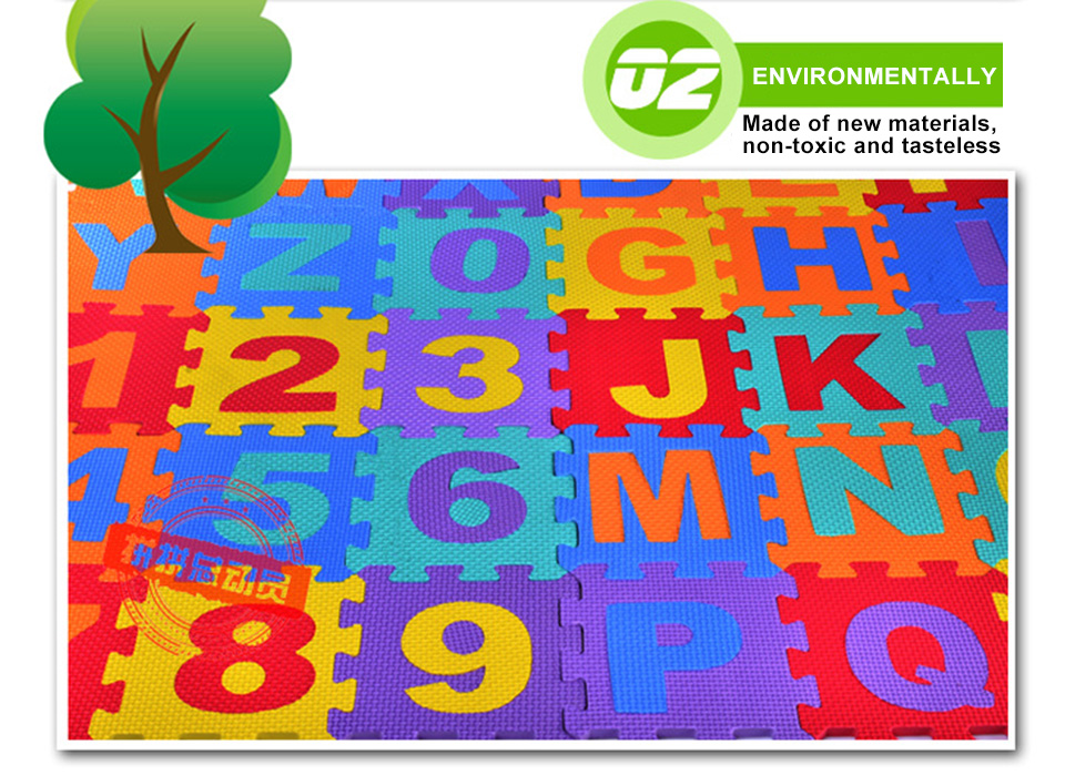 H4fff6cef16bf4d25b9a5beacdd05ab67p Baby Play Mat 36pcs/Set EVA Baby Foam Clawling Mats Puzzle Toys For Kids Floor Mat Number Letter Childrens Carpet 15.5*15.5cm