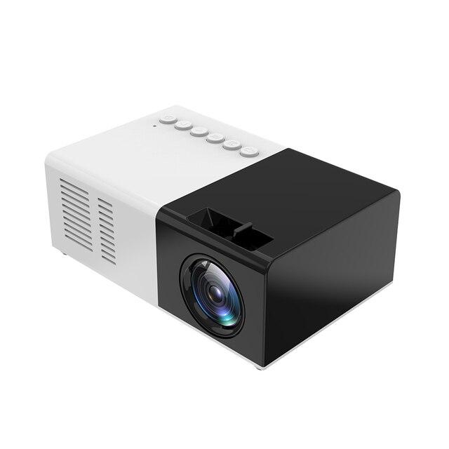 미니 프로젝터 J9 HD 홈 프로젝터 극장 지원 1080P AV USB 마이크로 SD 카드 USB 휴대용 포켓 비머 EU 미국 플러그 PK YG 300