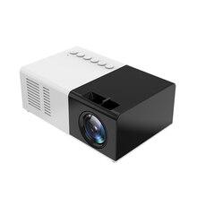 Mini projektör J9 HD ev projektör tiyatro desteği 1080P AV USB mikro SD kart USB taşınabilir cep Beamer ab abd Plug PK YG 300