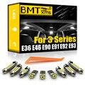 BMTxms для BMW 3 серии E36 E46 E90 E91 E92 E93 1990-2013 Светодиодный купольный светильник для салона автомобиля Комплект ламп Canbus