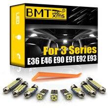 Bmtxms para bmw série 3 e36 e46 e90 e91 e92 e93 1990-2013 veículo led interior mapa cúpula kit luz interior canbus lâmpadas