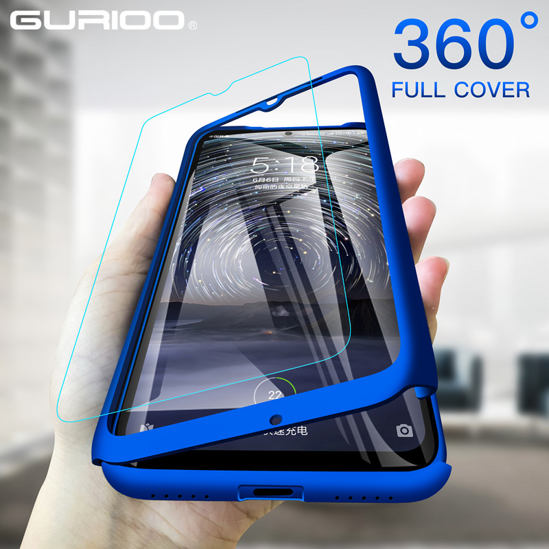 360 Full Cover Phone Case For Xiaomi Redmi Note 7 6 6A 5 5A 4A 4X 3 2 8 9 Pro Plus 4 Prime GO K20 S3 CC9 E Hard Shockproof Funda