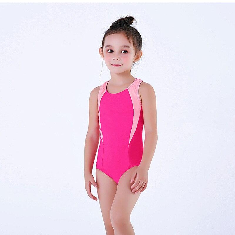 KID'S Swimwear Girls 4-12-Year-Old Industry Triangular One-piece Swimming Training Can Add Logo