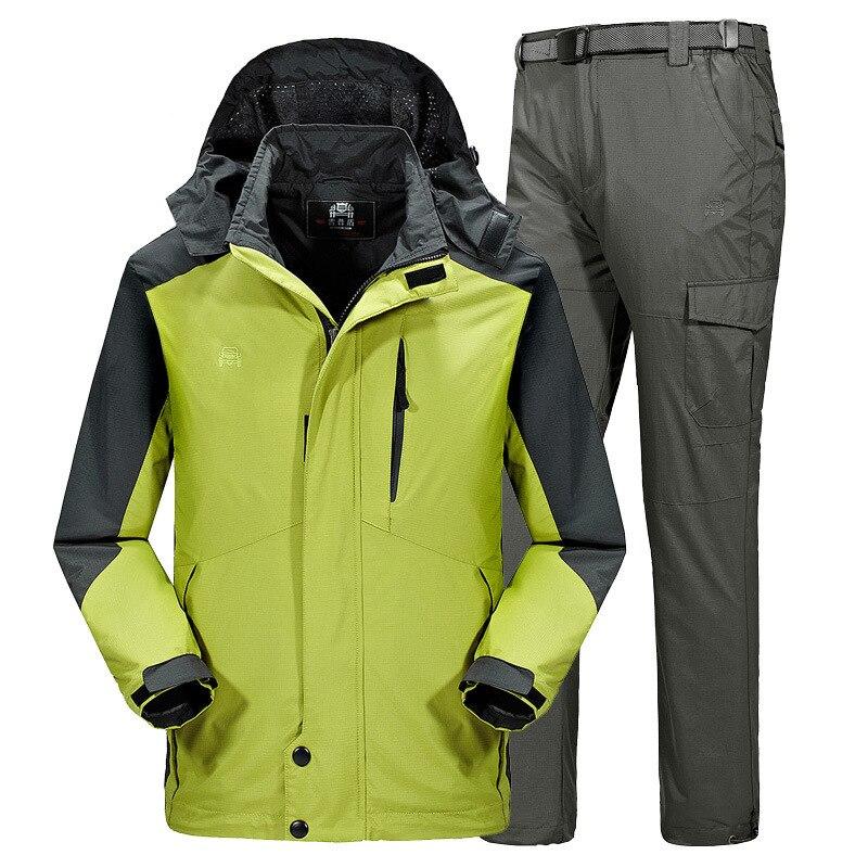 Skiing And Snowboarding Sets Warm Waterproof  Breathable Fleece Jacket+pant Winter Sports Camping Trekking Hiking Jacket Suit