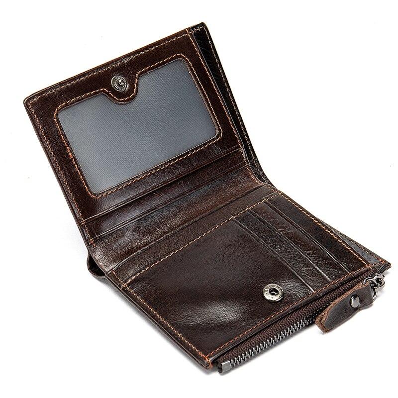AURAY Men Zipper Wallet Man Money Bag Purse Wallets Male Mens Wallet Leather Genuine Fashion Card Holder Men's Wallet Of Leather