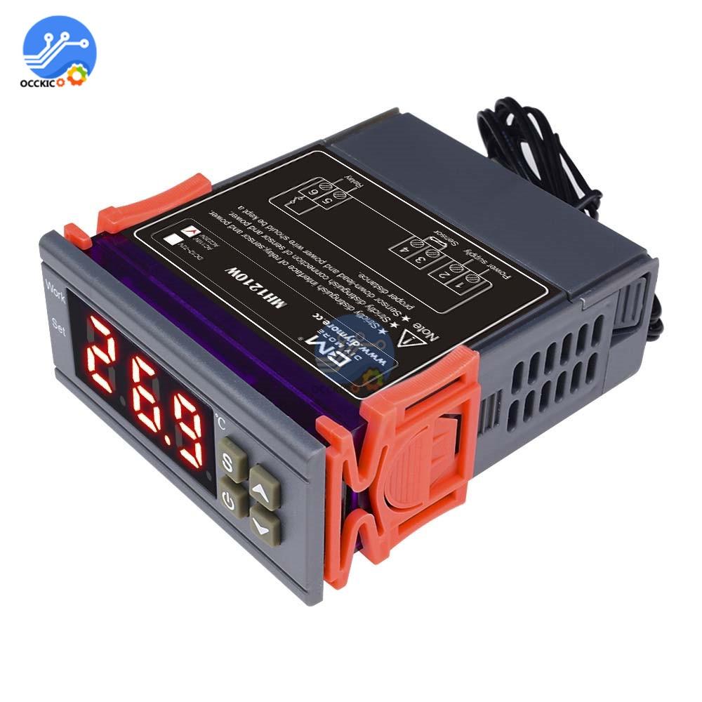 MH1210W 90-250V 10A 220V Digital Thermostat Temperature Controller -50~110 Celsius Heating Cooling Incubator Control NTC Sensor
