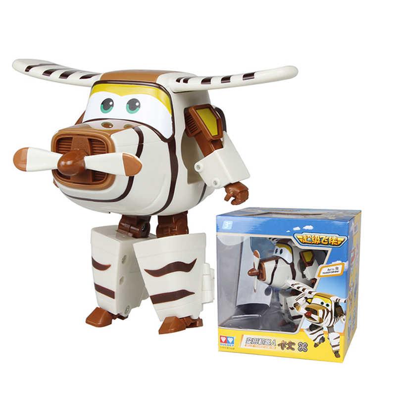 Besar!!! 15 Cm ABS Sayap Super Deformasi Pesawat Robot Action Figure Super Wing Transformasi Mainan untuk Anak-anak Hadiah Brinquedos