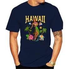 Diamond Head Islands Pacific Vintage Hawaii Travel Decal T-Shirt Hula Girl