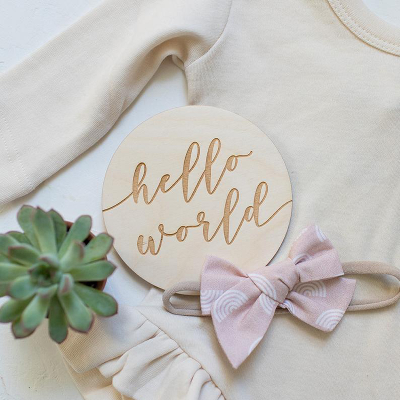 Wood Baby Monthly Milestones Baby Month Signs Photo Prop Baby Shower Gift