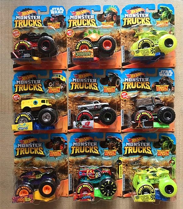 1: 64 оригинальные горячие колеса гигантские колеса Crazy Barbarism Монстр металлическая модель грузовика игрушки Hotwheels большая ножная машина детский подарок на день рождения