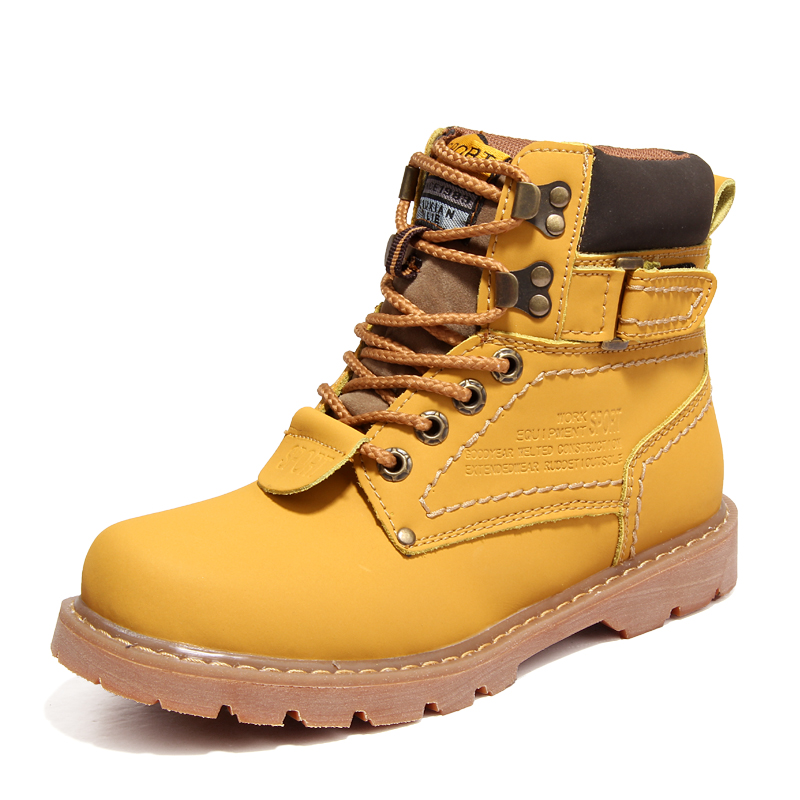 New Men Fashion Martin Boots Women Casual Thick Bottom High-top Hiking Boots Outdoor Tooling Work Shoes Winter Couple Boots34-45