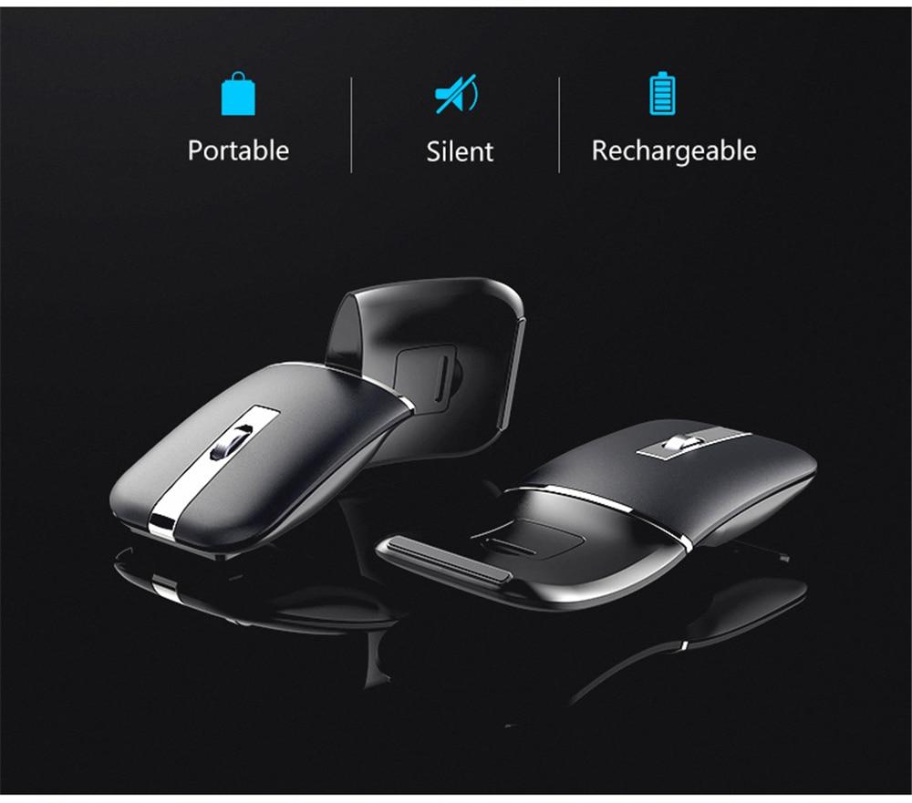 ergonômico recarregável gaming mouse para macbook lenovo