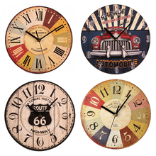 Wall Wooden Clocks Brief Design Silent Home Cafe Office Wall Decor Clocks for Kitchen Wall Art  Large Wall Clocks Gifg стоимость