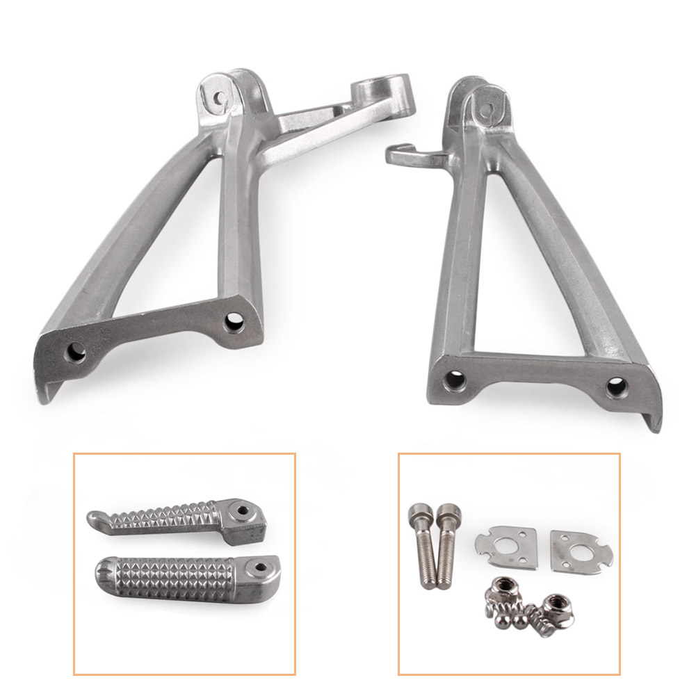 Motorcycle Rear Passenger Foot Pegs Footrest Brackets For Yamaha R6 2003-2005 & R6S 2003 2004 2005 2006 2007 2008 CNC Aluminum