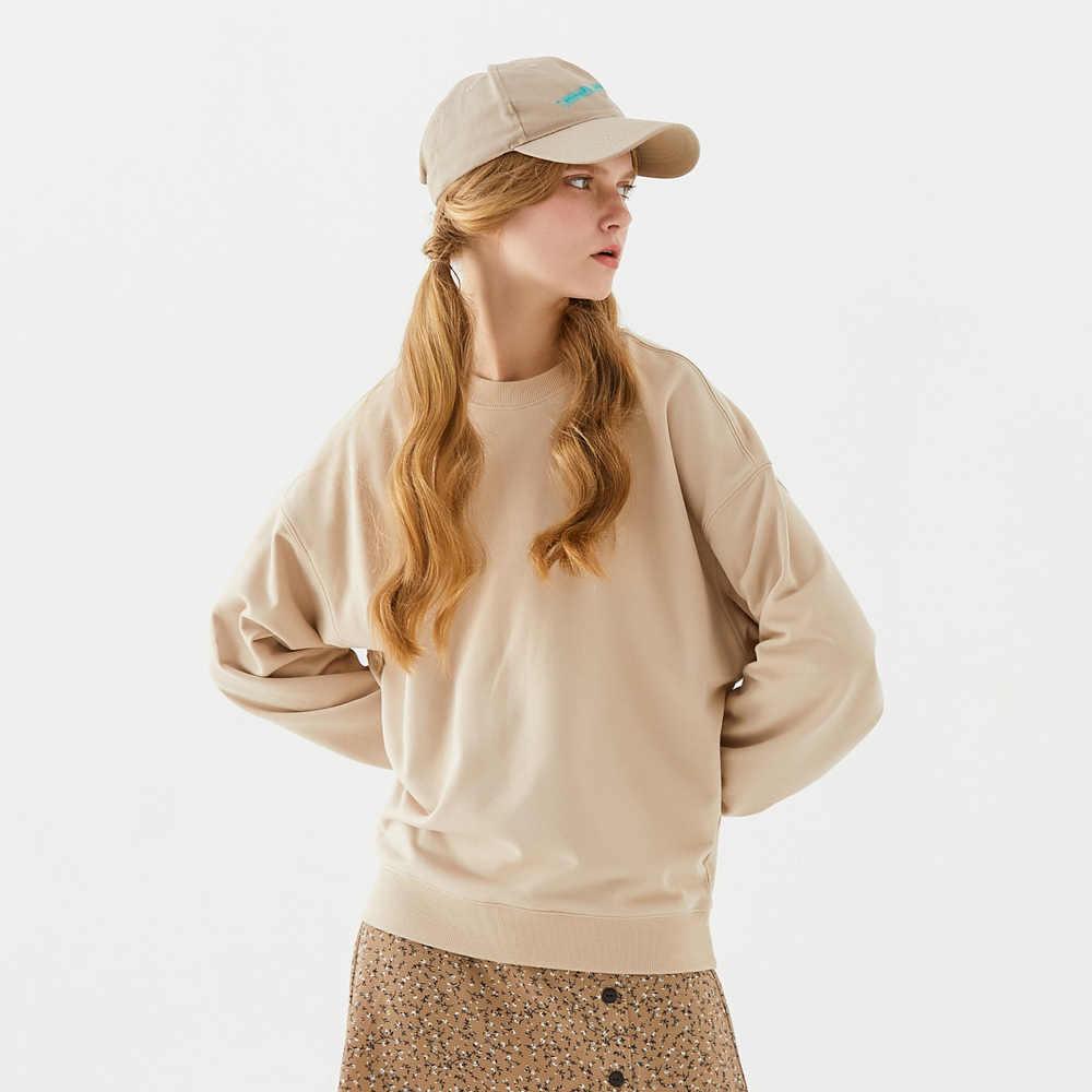 Metersbonwe bluzy z kapturem typu Basic dla kobiet Streetwear damski, wiosenny jesień jednolity kolor bluzy bluza w stylu Casual nowe Hip Pop topy