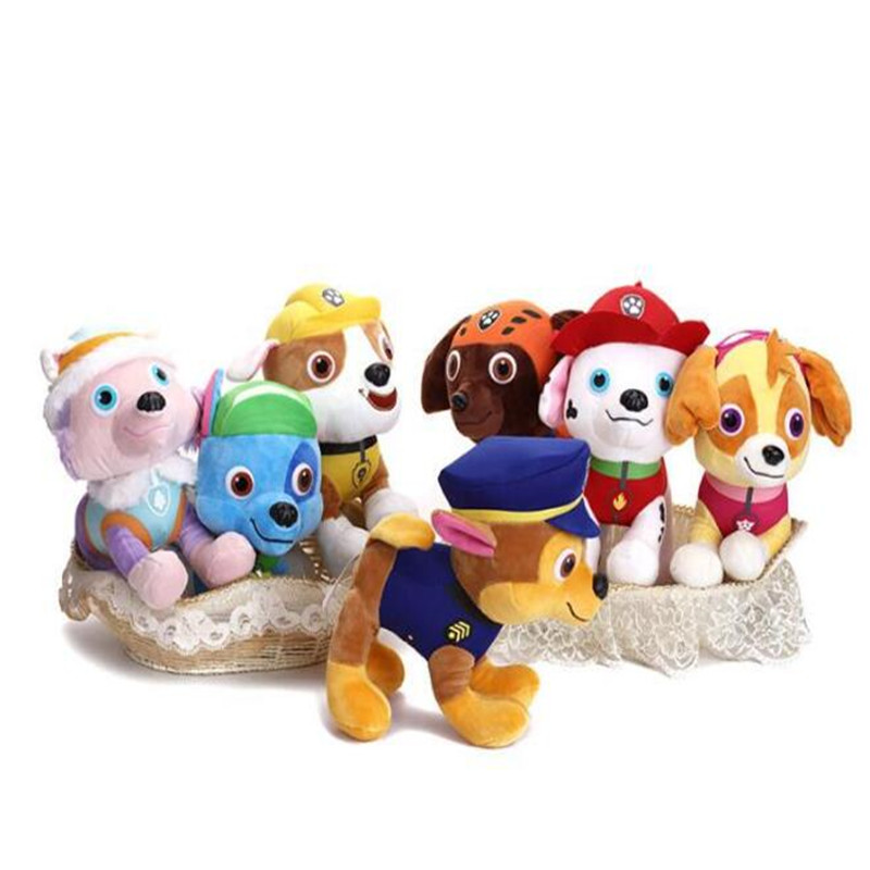 30 CM Paw Patrol Dog Puppy Marshall Captain Ryder Stuffed Doll Plush Toys For Children Gifts