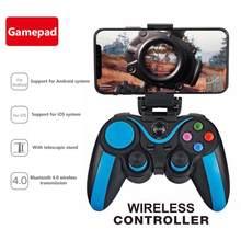 Controlador de jogo sem fio bluetooth bt4.0 joystick gamepad para iphone 12 11pro xs huawei p30 p40 pro xiaomi mi10 pubg controler