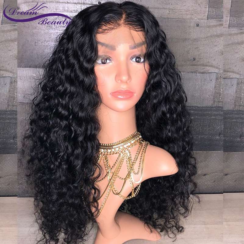 150% Glueless Pre Plucked 13x4 Lace front Human Hair Wigs Curly Lace Wigs Brazilian Non Remy Human Hair Baby Hair Dream Beauty-in Human Hair Lace Wigs from Hair Extensions & Wigs