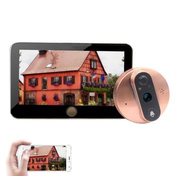 4.3'' Video Intercom WIFI Smart Peephole Door Camera Viewer Monitor PIR Motion Detection APP Remote Control Video Doorbell 1