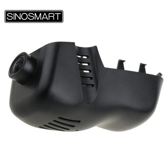SINOSMART Novatek 96672 Car Wifi DVRกล้องสำหรับVolkswagen Touareg 2011 2014 2016ควบคุมโดยAppโทรศัพท์มือถือSONY IMX323